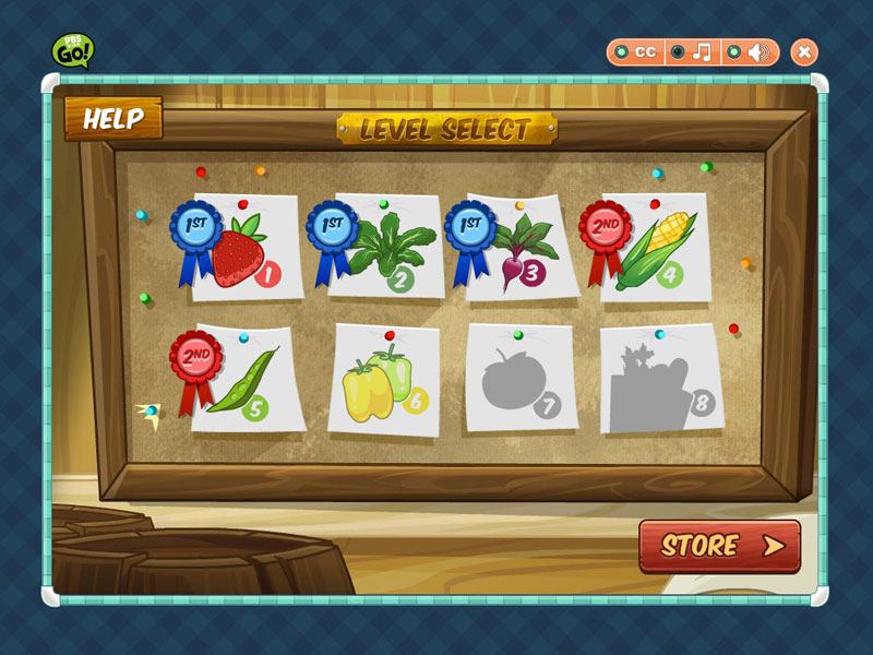 Game Level Select images
