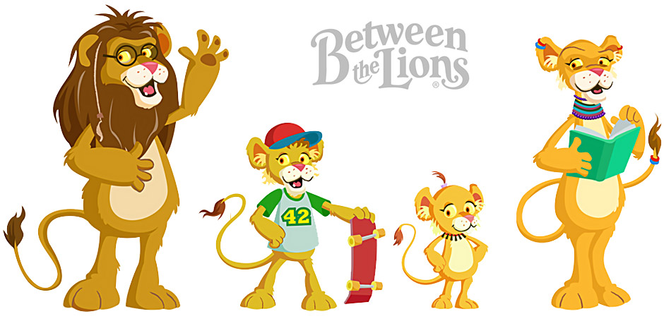 Image result for READING LION clip art